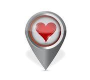Conception d'illustration d'indicateur de coeur Photo libre de droits