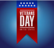 Conception d'illustration de bannière de jour de vétérans Photos stock