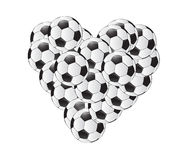 Conception d'illustration de coeur de ballons de football Images stock