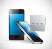 Conception d'illustration de concept de communication de téléphone Image libre de droits