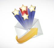 Conception d'illustration de courrier de surprise Photos libres de droits