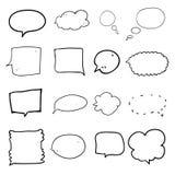 Conception d'illustration de dessin de main de bulle de la parole illustration de vecteur