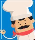 Conception d'illustration de Flat Vector Background de chef de bande dessinée Illustration de Vecteur