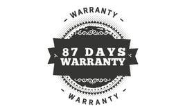 conception d'illustration de garantie de 87 jours illustration de vecteur