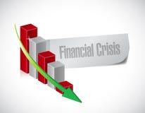Conception d'illustration de graphique de crise financière Photo libre de droits