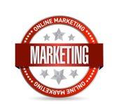 Conception d'illustration de joint de marketing en ligne illustration stock