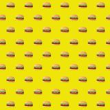 conception d'illustration de modèle de cheeseburgers de double d'aliments de préparation rapide illustration stock