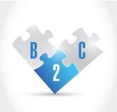 Conception d'illustration de morceaux de puzzle de B2c Photo libre de droits