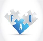 Conception d'illustration de morceaux de puzzle de FAQ Photos libres de droits