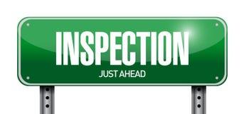 conception d'illustration de panneau routier d'inspection illustration stock