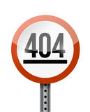 conception d'illustration de panneau routier de 404 erreurs Photographie stock libre de droits