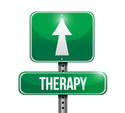 Conception d'illustration de panneau routier de thérapie Photo libre de droits