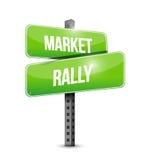 conception d'illustration de plaque de rue de rassemblement du marché illustration libre de droits