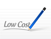 conception d'illustration de signe de message de coût bas Images libres de droits