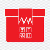 Conception d'illustration de symbole d'icône de paquet de boîte Photos stock