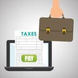 Conception d'impôts Icône de finances Concept d'imposition Image stock