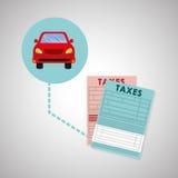 Conception d'impôts Icône de finances Concept d'imposition Photographie stock libre de droits