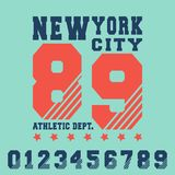 Conception d'impression de T-shirt de New York City Illustration Libre de Droits