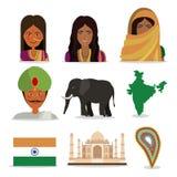 Conception d'Inde Image libre de droits