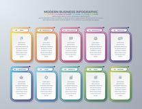 Conception d'Infographic d'affaires avec 10 choix ou ?tapes de processus ?l?ments de conception pour vos affaires telles que des  illustration de vecteur