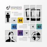 Conception d'Infographic avec des places Descripteur d'affaires Vecteur illustration libre de droits