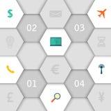 Conception d'Infographic avec les icônes créatives de papier illustration de vecteur