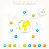 Conception 3d infographic moderne avec l'endroit pour le votre Image libre de droits