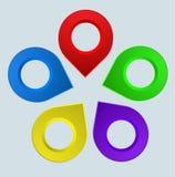 Conception d'Infographics de l'information avec des bannières, boutons, icônes Ele illustration stock