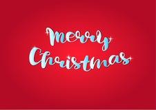 Conception d'inscription tirée par la main calligraphique de texte de Joyeux Noël illustration stock