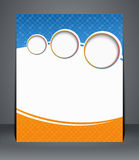 Conception d'insecte, calibre, ou une couverture de magazine dans des couleurs bleues et oranges. Image libre de droits