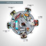 Conception d'insecte de style d'origami ou calibre plate de brochure pour votre projet d'affaires Photographie stock libre de droits