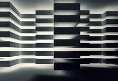conception 3d intérieure foncée avec l'illumination créative Images libres de droits