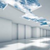 Conception 3d intérieure moderne abstraite avec des coins illustration libre de droits