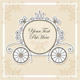 Conception d'invitation avec le chariot Image libre de droits