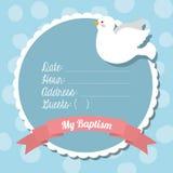 Conception d'invitation de baptême illustration stock