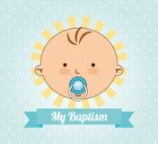 Conception d'invitation de baptême illustration libre de droits