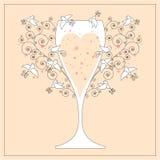 Conception d'invitation de mariage Photos stock