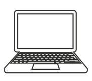 conception d'isolement d'icône d'ordinateur portable Images stock