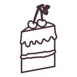 Conception d'isolement de silhouette de gâteau illustration libre de droits