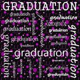 Conception d'obtention du diplôme avec la polka rose et noire Dot Tile Pattern Rep Photos libres de droits