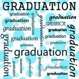 Conception d'obtention du diplôme avec Teal et la polka blanche Dot Tile Pattern Rep Images libres de droits