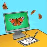 Conception d'ordinateur de guindineau Photos stock