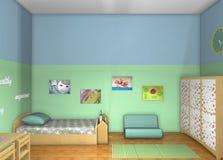 conception 3D Pièce de Toddlers' Image stock