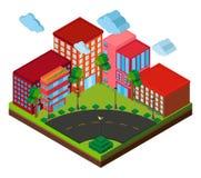 conception 3D pour des bâtiments sur le coin Image libre de droits