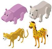 conception 3D pour différents types d'animaux Photographie stock