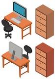 conception 3D pour l'ordinateur sur la table Image libre de droits