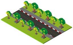 conception 3D pour la route et le trottoir vides illustration libre de droits