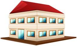 conception 3D pour le bâtiment large avec le toit rouge Image libre de droits