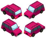 conception 3D pour les voitures roses illustration libre de droits