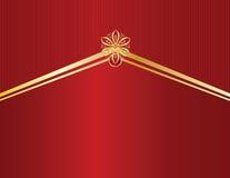 Conception d'or sur la ligne rouge backgr Photographie stock libre de droits